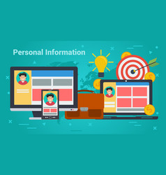 Business banner - personal information vector