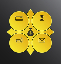 Modern design circles with info graphic icons vector