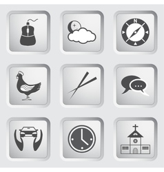 Icons on the buttons for Web Design Set 4 vector image