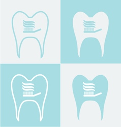 Tooth set of symbols vector
