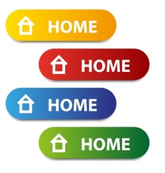 Color home buttons vector