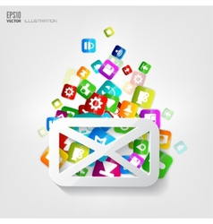 Message icon application buttonsocial media vector