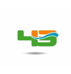43 anniversary wave logo blue vector