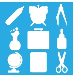 White school goods silhouettes part 1 vector