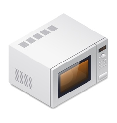 Microwave oven detailed isometric icon vector
