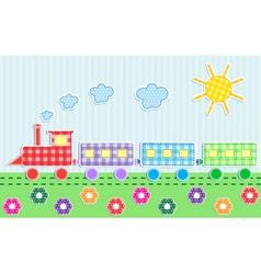 cute cartoon train vector image