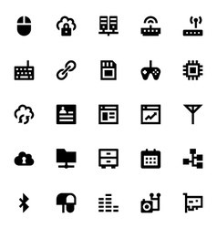 Internet networking and communication icons 5 vector