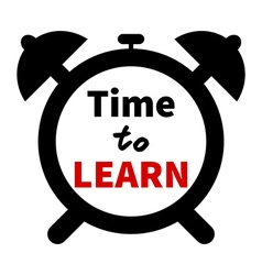 Time to LEARN clock Education theme Clock vector image