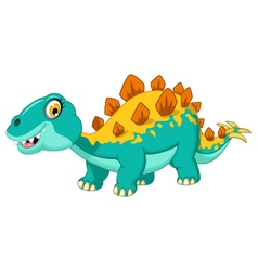 Stegosaurus cartoon vector