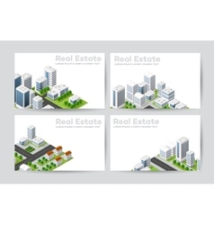 Templates of business cards vector