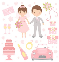 Cute wedding vector