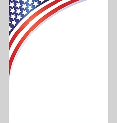 american flag on the corner patriotic frame vector image vector image