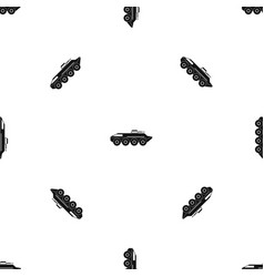 armored personnel carrier pattern seamless black vector image vector image