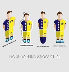Bosnia-herzegovina soccer team sportswear template vector