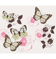 Butterflies vintage vector