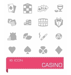 Casino icon set vector image vector image