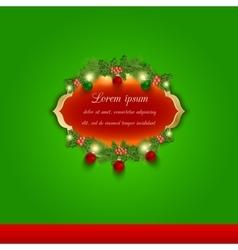 Christmas greeting and invitation card vector image