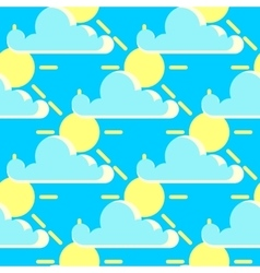 Clouds and the sun good weather seamless vector