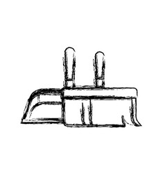 dustpan and hand broom in closeup in monochrome vector image vector image