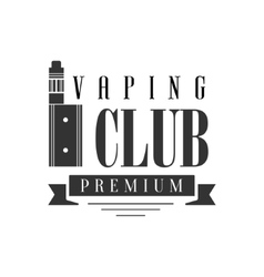 Electronic Cigarette And Ribbon Premium Quality vector image vector image