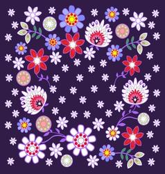 Folk design with flower-5 vector