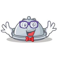 geek tray character cartoon style vector image vector image