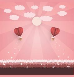 happy valentine day concept vector image