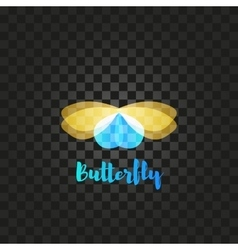 Isolated yellow and blue butterfly logo vector image vector image
