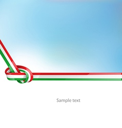 Italian ribbon flag on background vector