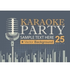 Karaoke parties over modern city vector