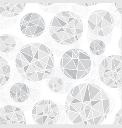 light grey geometric mosaic circles with vector image vector image