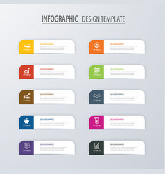 modern tab index infographic options template vector image vector image