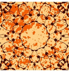 Orange background with splattered paint and vector image