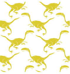 set silhouettes of dinosauranimal vector image vector image