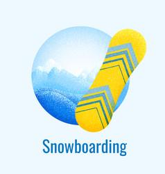 Snowboarding retro banner vector