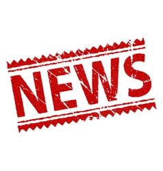 stamp news vector image
