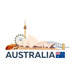 travel to australia sydney skyline vector image