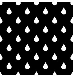 Black and white water drops seamless vector