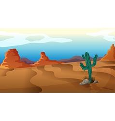A sad cactus vector image