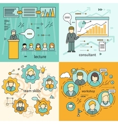 Set of business education banners vector