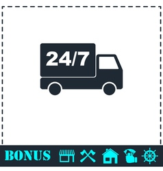 Shipping icon flat vector image