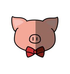Pig faceless cartoon vector