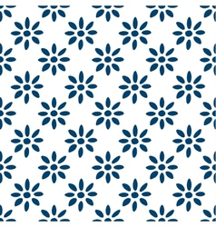 Hand drawn seamless indigo pattern vector