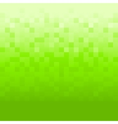 Green background with pixels vector image