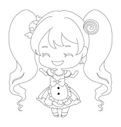 cute happy twin tail girl with sweet smile in cute vector image