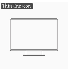 Monitor tv screen icon style thin line vector