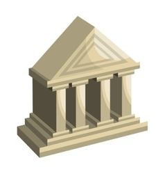 Bank building classic isolated icon vector