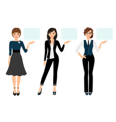 adult woman business presenting vector image vector image