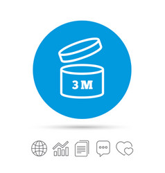 After opening use 3 months sign icon vector
