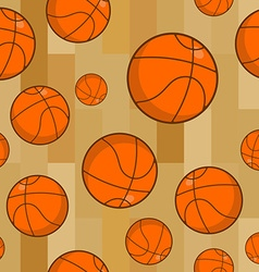 Basketball seamless pattern sports accessory vector
